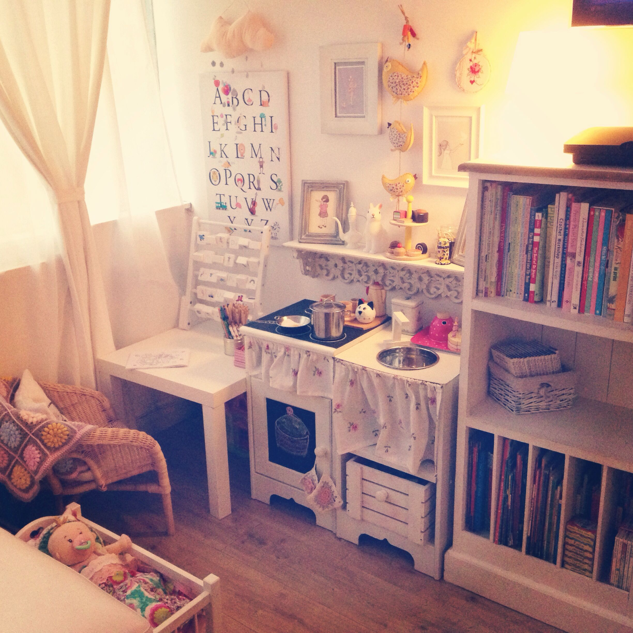Esra's Play Corner With Diy Play Kitchen