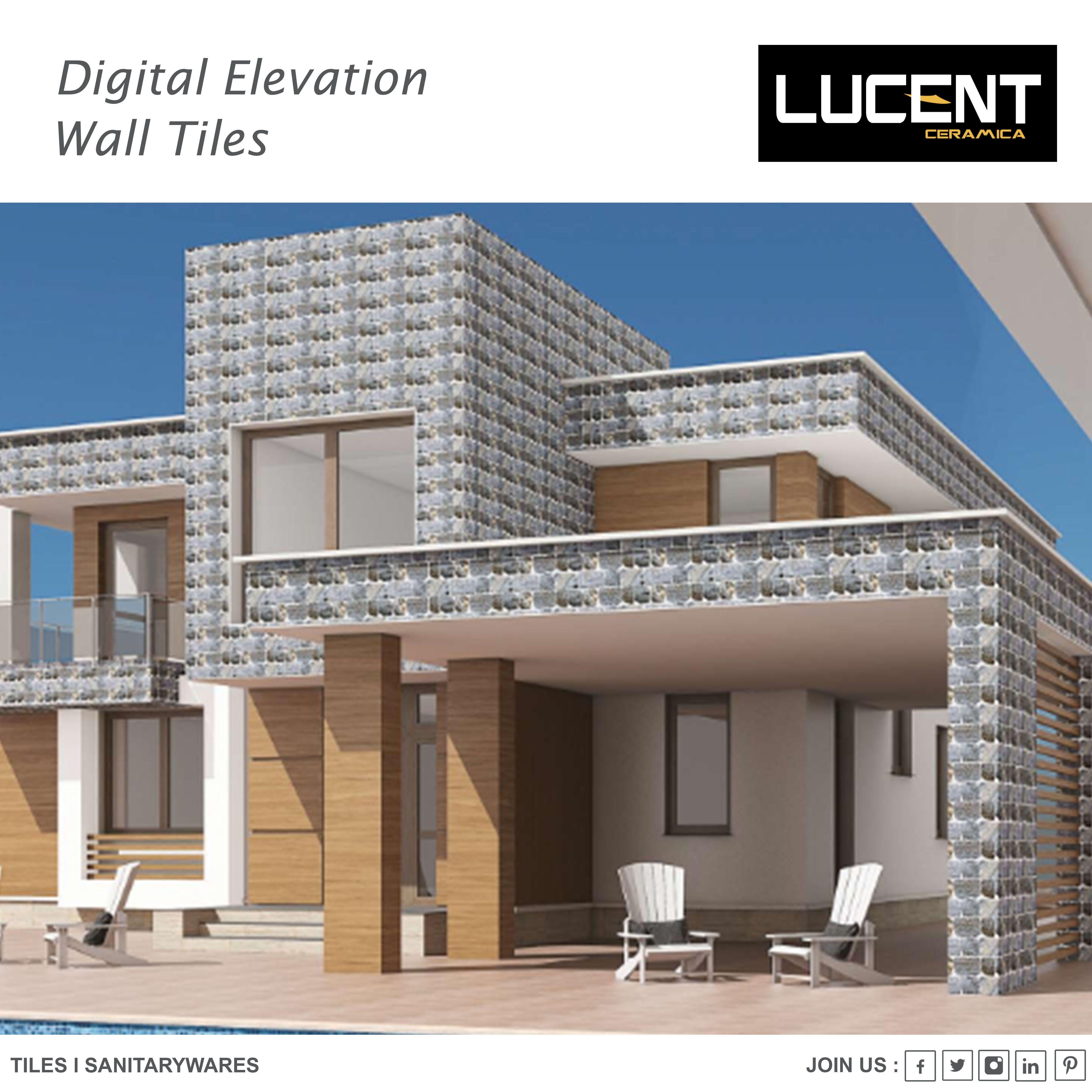 Lucent Ceramica Digital Wall Elevation Tiles Lucent