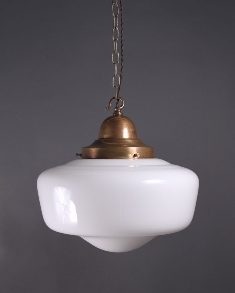 School house light lights house and schoolhouse light school house pendant ceiling light opal glass shade vintage retro lighting arubaitofo Gallery