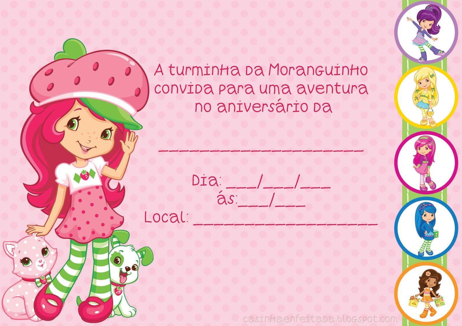 Kit Festa Turma Moranguinho Para Imprimir Gratis Lembrancinhas