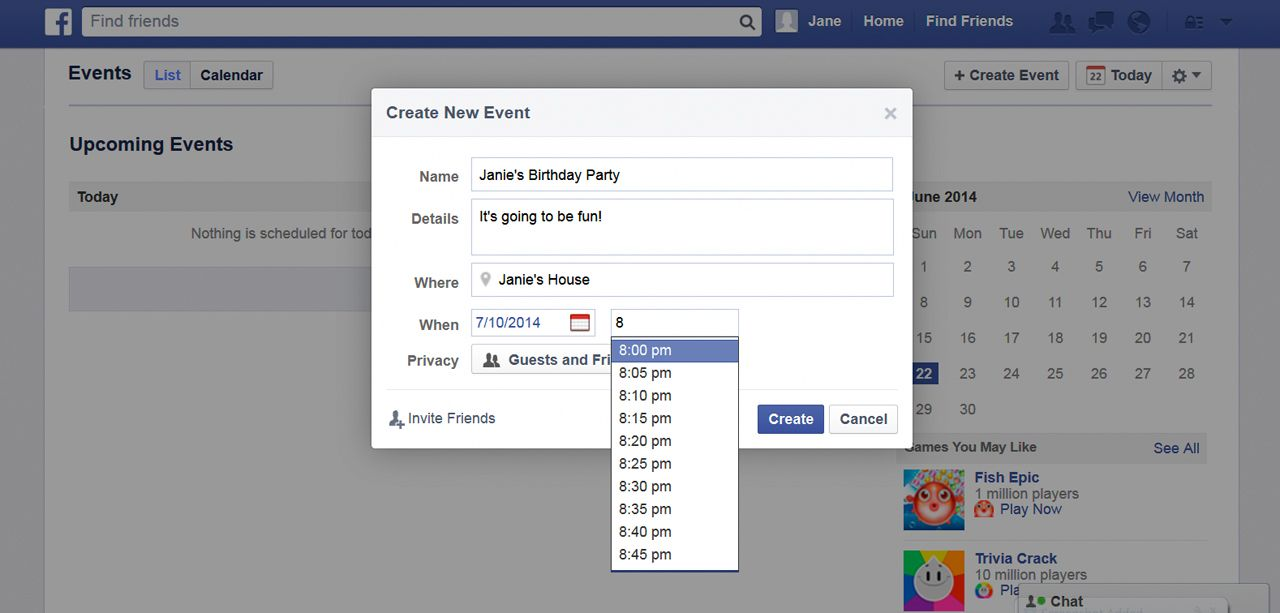 How To Create An Event On Facebook Techwalla Event Birthday Images Find Friends