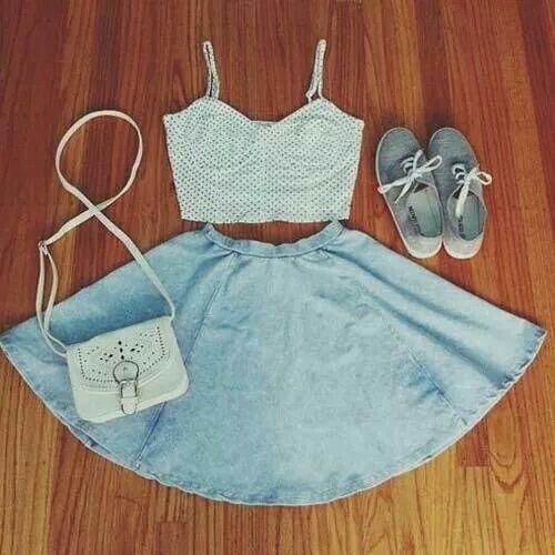 Top+falda+zapatillas+bolso ;)