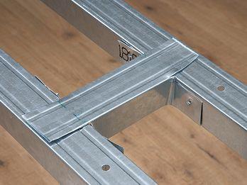 Raumteiler Aus Gipsplatten Selber Bauen Anleitung Construcciones De Metal Casas Con Estructura De Acero Construccion En Seco Casas