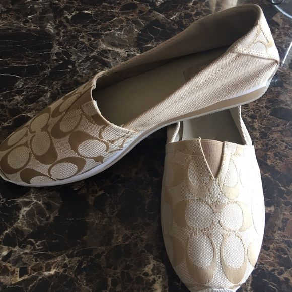 COACHSlip Ons Worn Twice! Beautiful Slip Ons! Great Deal!!! Coach Shoes Flats & Loafers