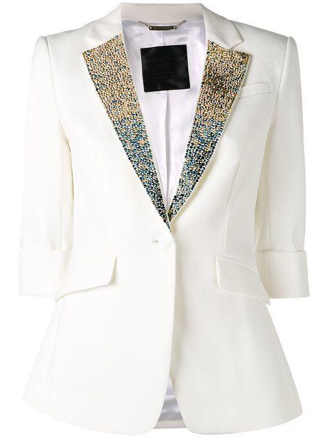 PHILIPP PLEIN Embellished Collar Blazer. #philippplein #cloth #blazer