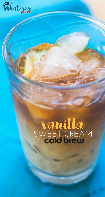 Homemade vanilla sweet cream cold brew recipe cold