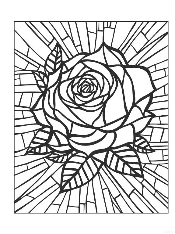 Coloring for adults - Kleuren voor volwassenen | Rose ...