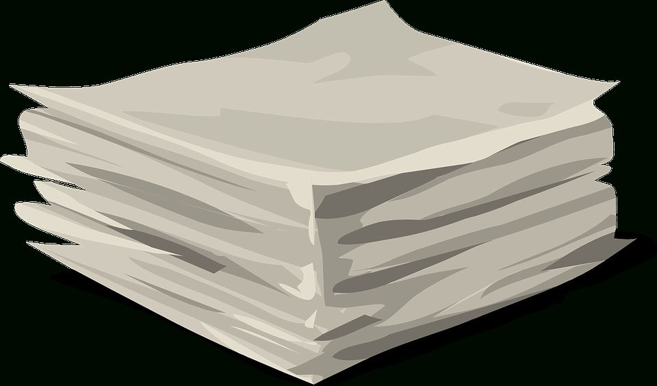 Paper Stack Heap Free Vector Graphic On Pixabay With Paper Stack Png22460 Free Paper Texture Image Paper Free Clip Art