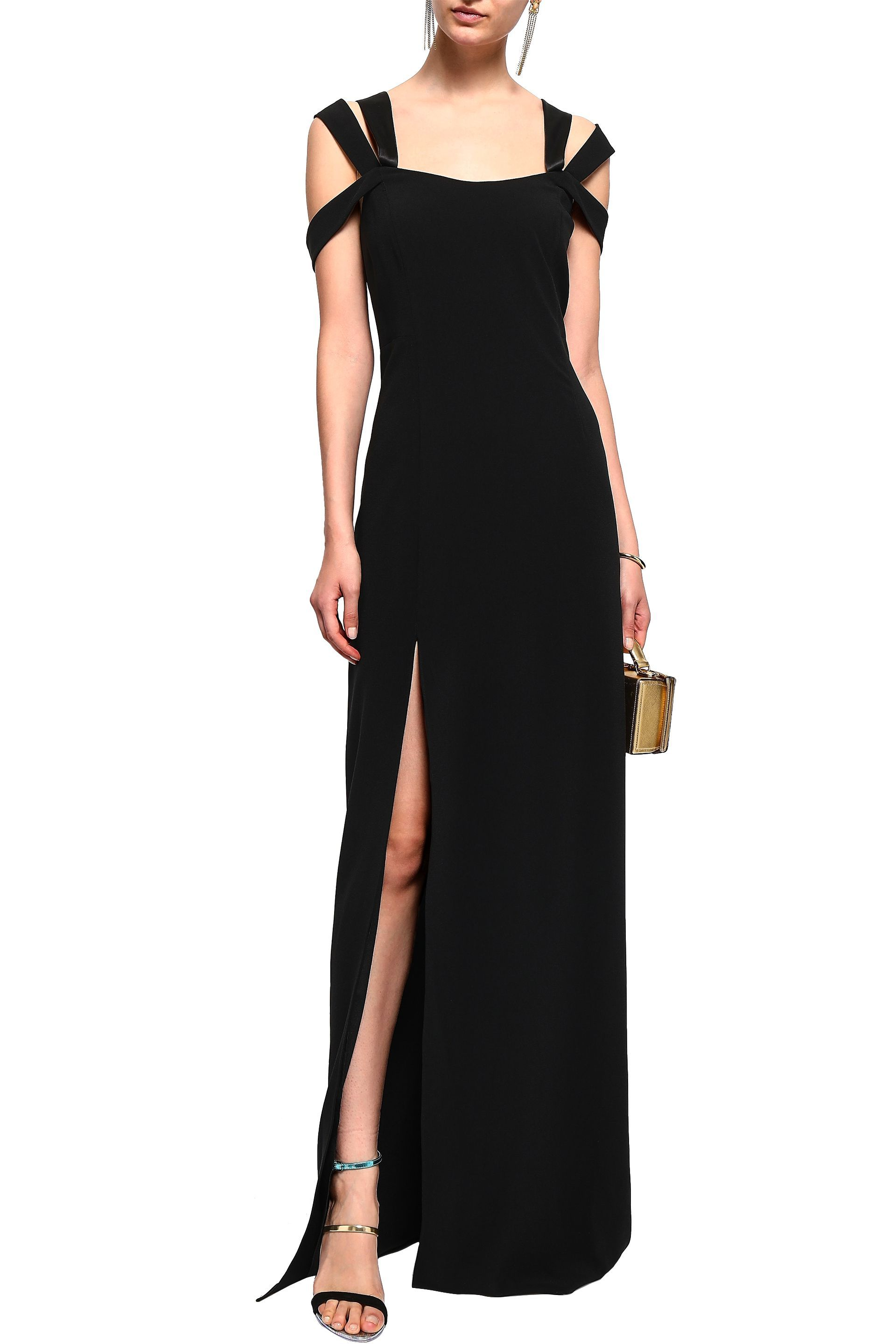 8b2a6e73702e Cutout split-front stretch-crepe maxi dress | HALSTON HERITAGE | Sale up to