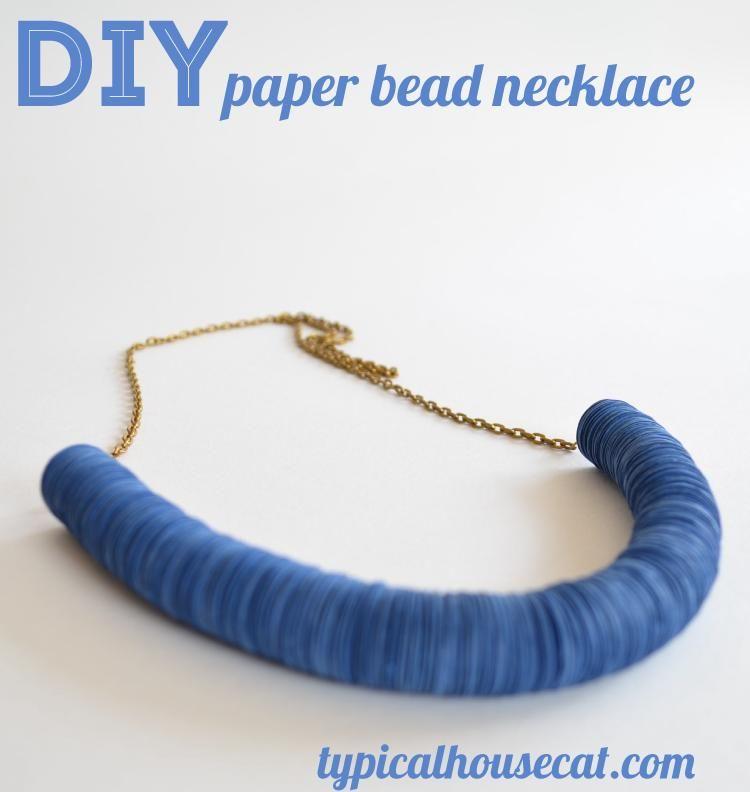 DIY Paper Bead Necklace | Avec du papier, de la récup\' | Pinterest ...