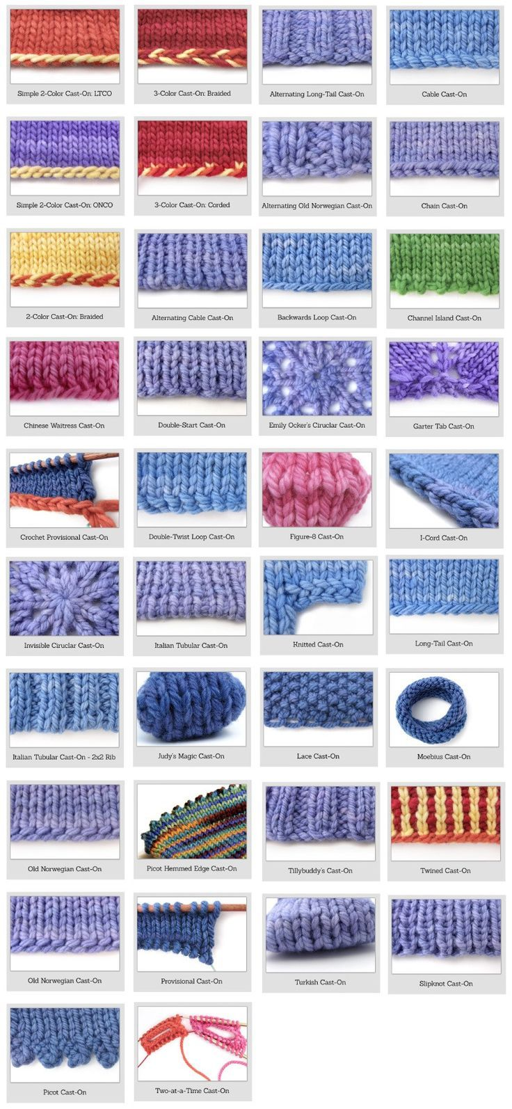 Basic Techniques Knitting Cast On Methods Knit Stitches