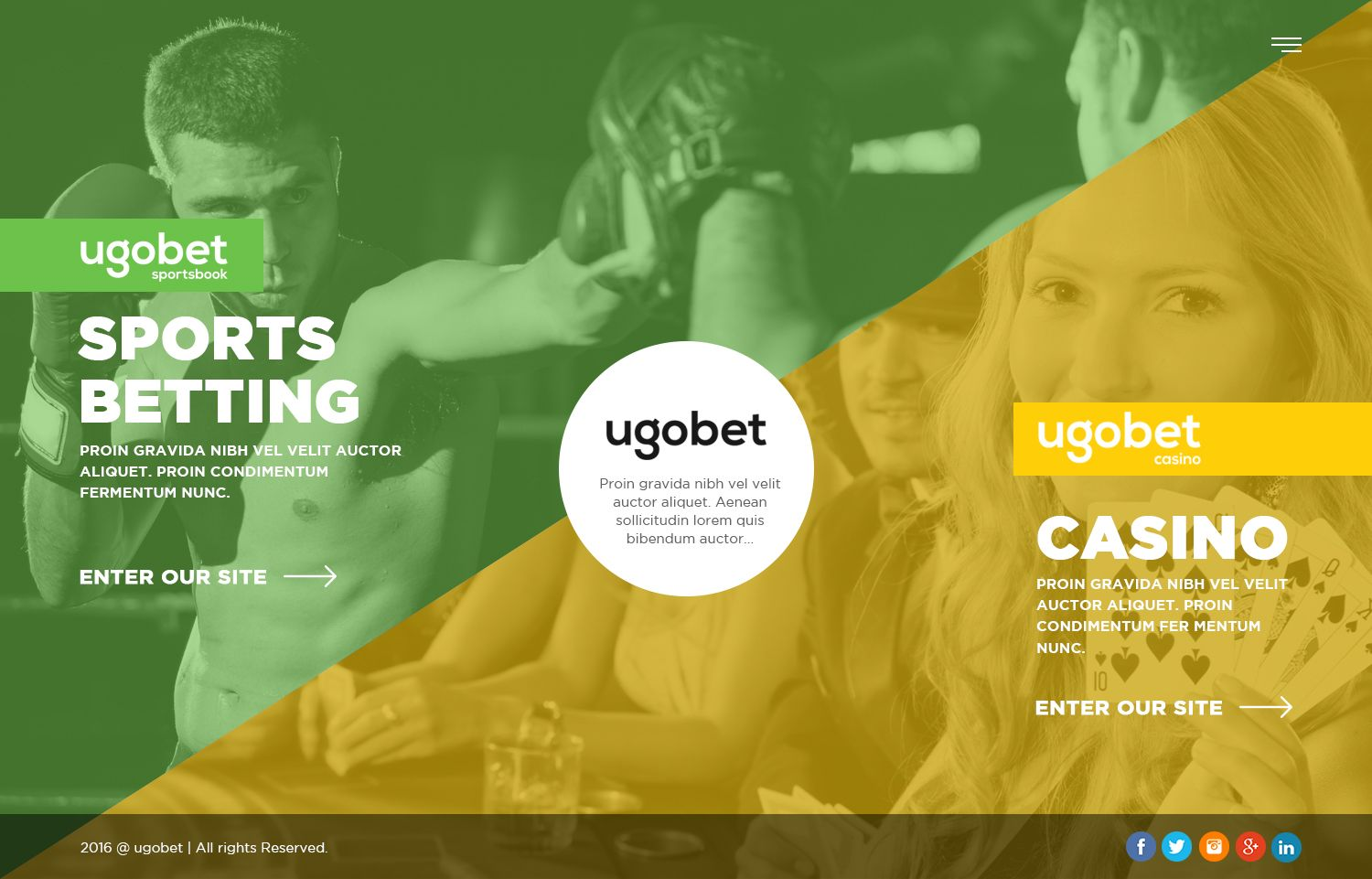 A sports betting company website design created by