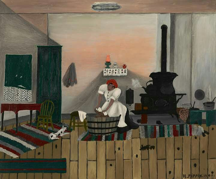 Horace Pippin Saturday Night Bath 1945 American Painting