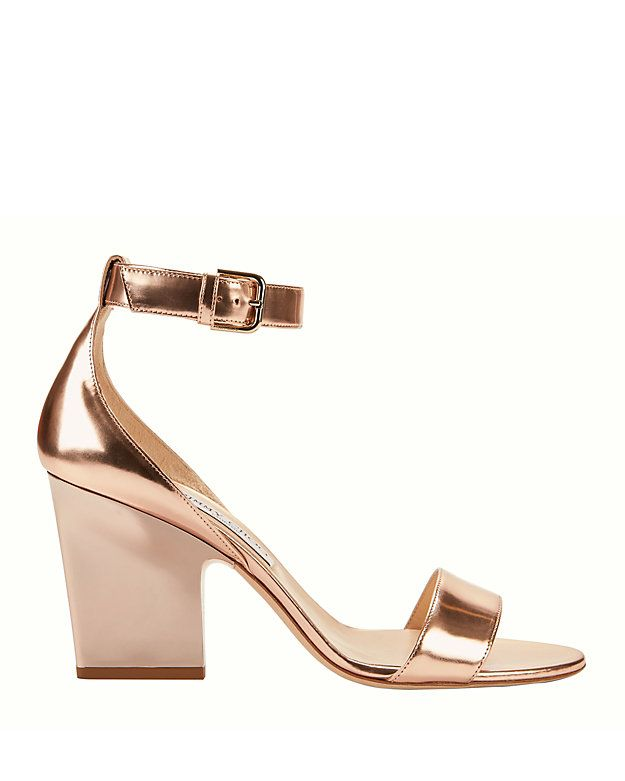 Clothes · Shop the Jimmy Choo Edina Rose Gold Sandals ...