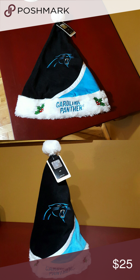 068560ca710 NWT NFL Carolina Panthers Santa Hat 🎁🎄 Forever Collectibles NFL- Get  ready for the holidays while celebrating your favorite team! Go Carolina  Panthers!