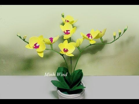 Orchid paper flower lm hoa lan h ip giy nhn youtube to orchid paper flower lm hoa lan h ip giy nhn youtube mightylinksfo