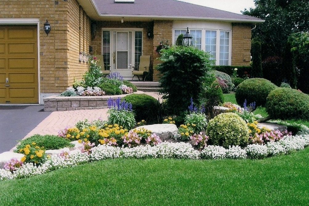Image Result For Curb Appeal Garage In Front Rustic Landscaping Front Yard Front Yard Landscaping Mulch Landscaping