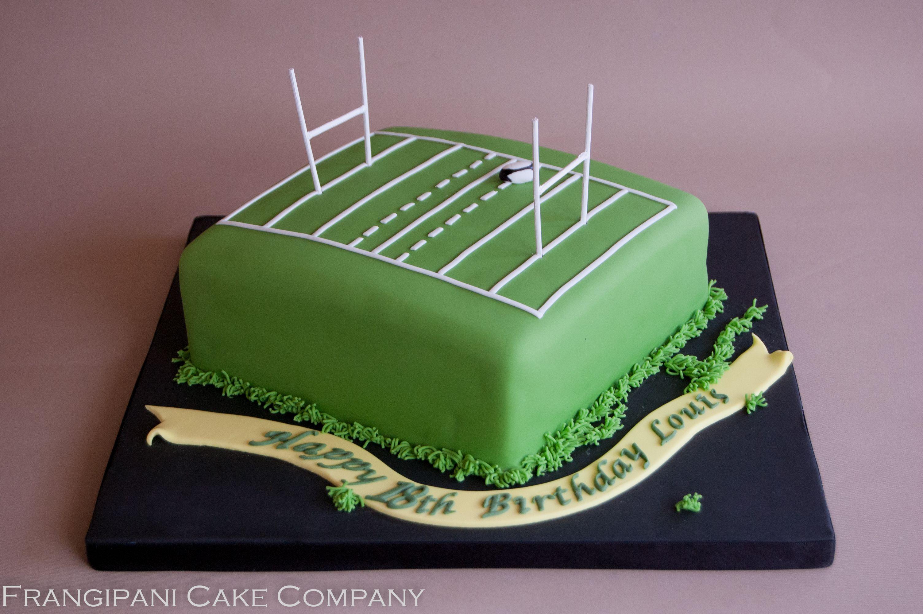 Rugby Pitch Cake Verjaardagkoeke Rugby