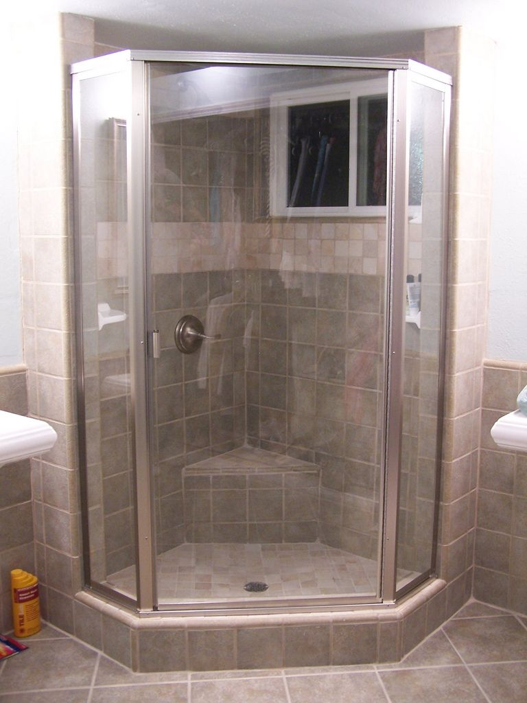 Semi-framed neo angle shower door unit. | Bathroom | Pinterest ...