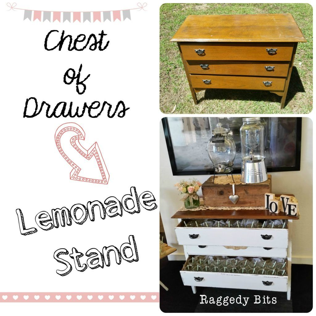 DIY Chest of Drawers into Lemonade Stand | www.raggedy-bits.com