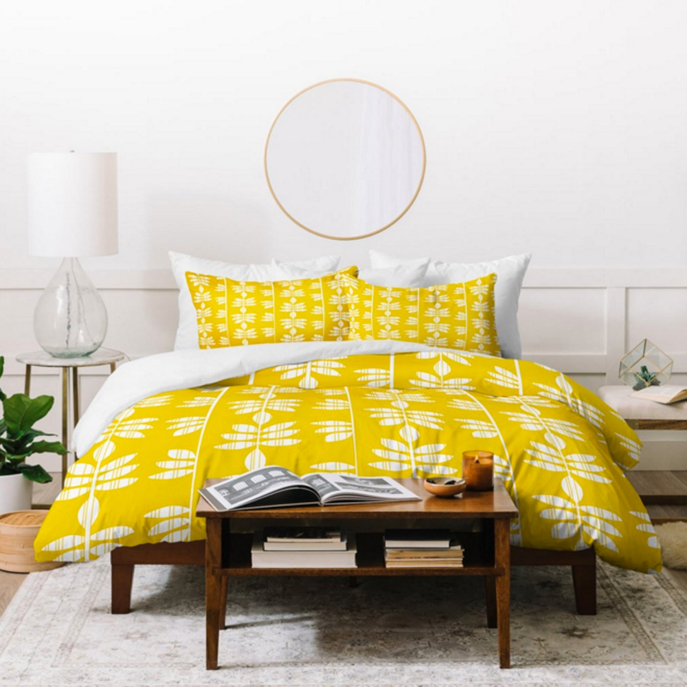 Yellow Duvet Cover // Bedding // Twin, Queen, King Sizes
