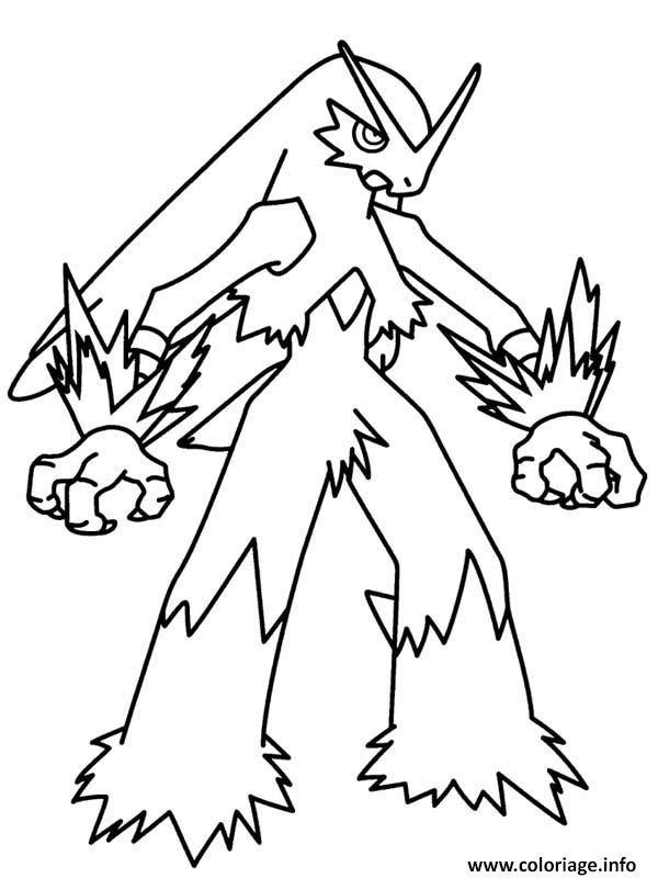 Coloriage Pokemon Méga évolution Blaziken Dessin à Imprimer