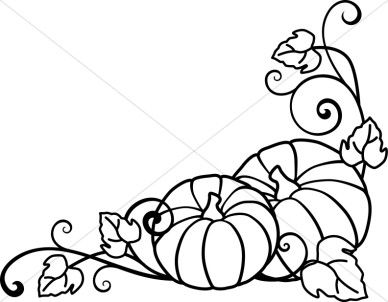 Pumpkins and Vines Lineart | Black and white art drawing, Vine ...