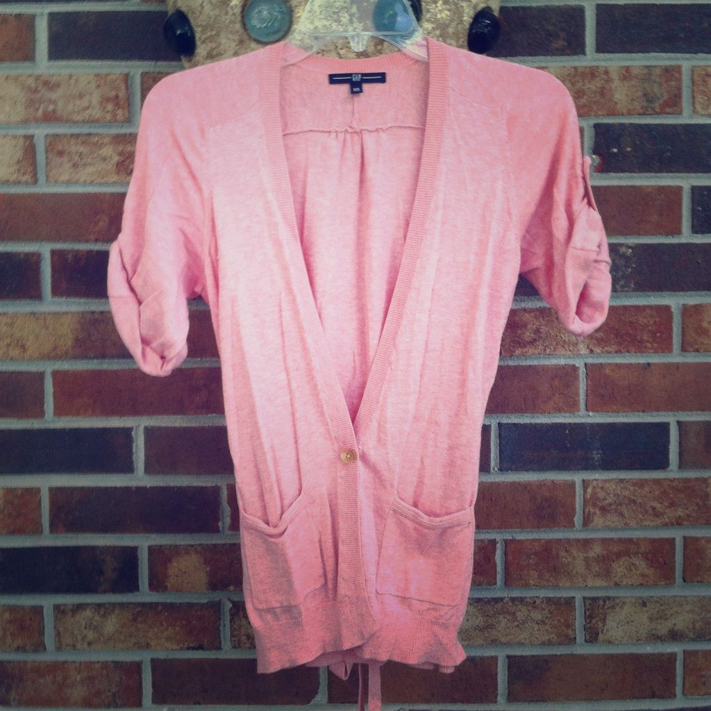 Pink Short Sleeve Cardigan | Short sleeves and Products