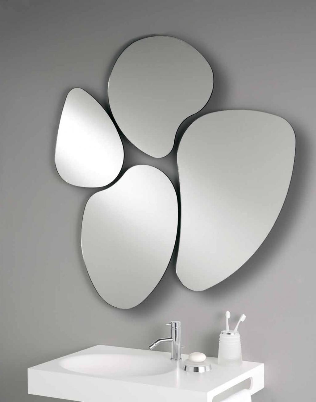 Funky Shaped Bathroom Mirrors Modern Mirror Wall Antique Mirror