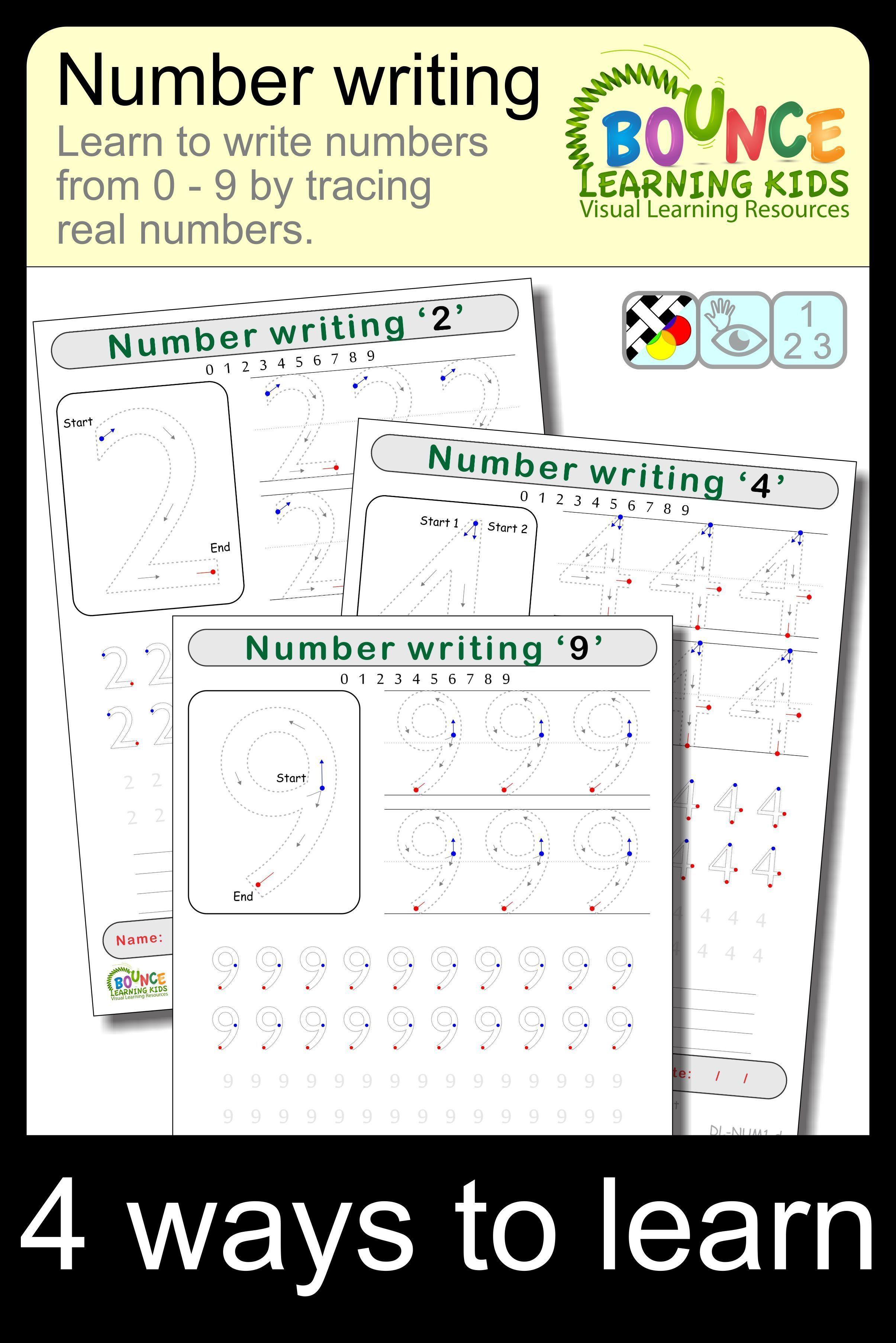 Writing Numbers 10 Distance Learning Worksheets For