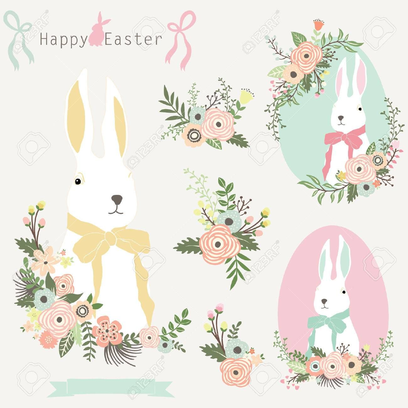 Floral Easter Bunny , ad, Floral, Easter, Bunny