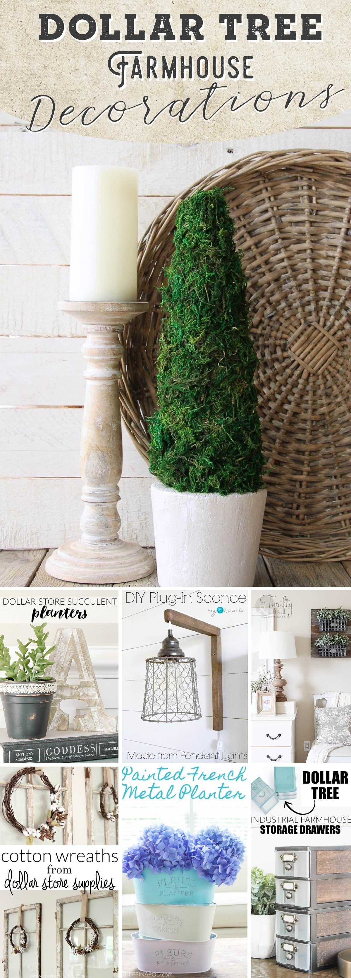 These Stunning Dollar Tree Farmhouse Decorations are True Gorgeousness! #dollartreecrafts