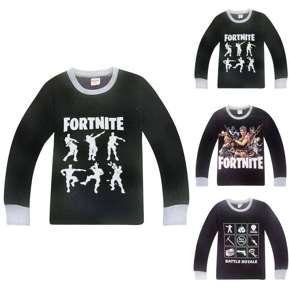 98c8c5f6b1 Fortnite Floss Dance Shirt Kids Boys Long Sleeve T-Shirt Tops Tee Clothes 6-