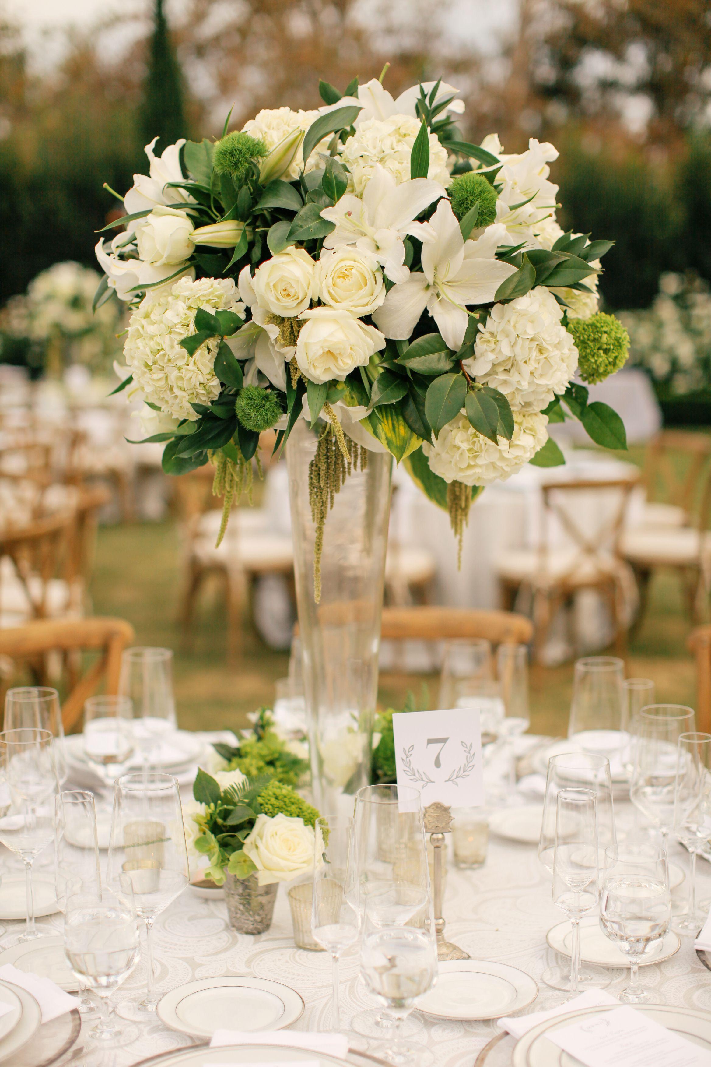 White And Black Elegant Wedding White roses wedding
