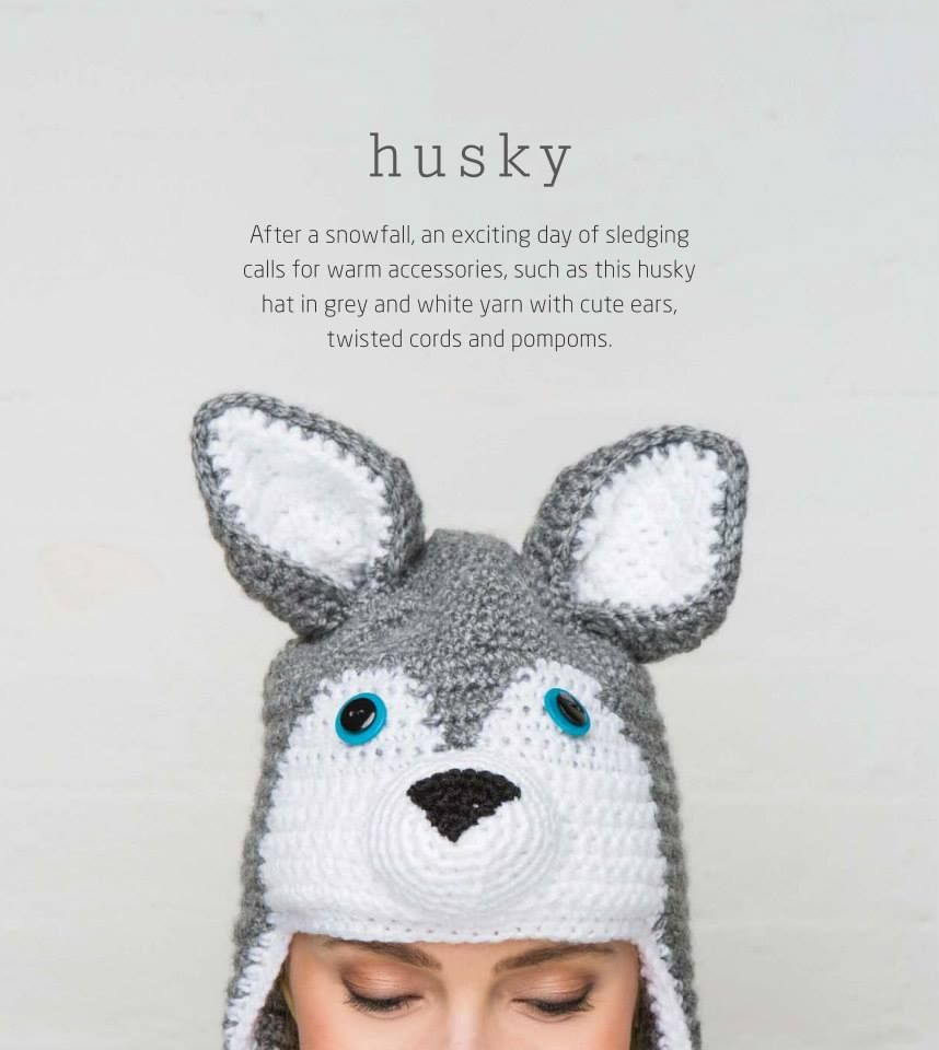 Fashion (Cr) - Nón len hình chú cho Husky - Husky hat | sapka ...