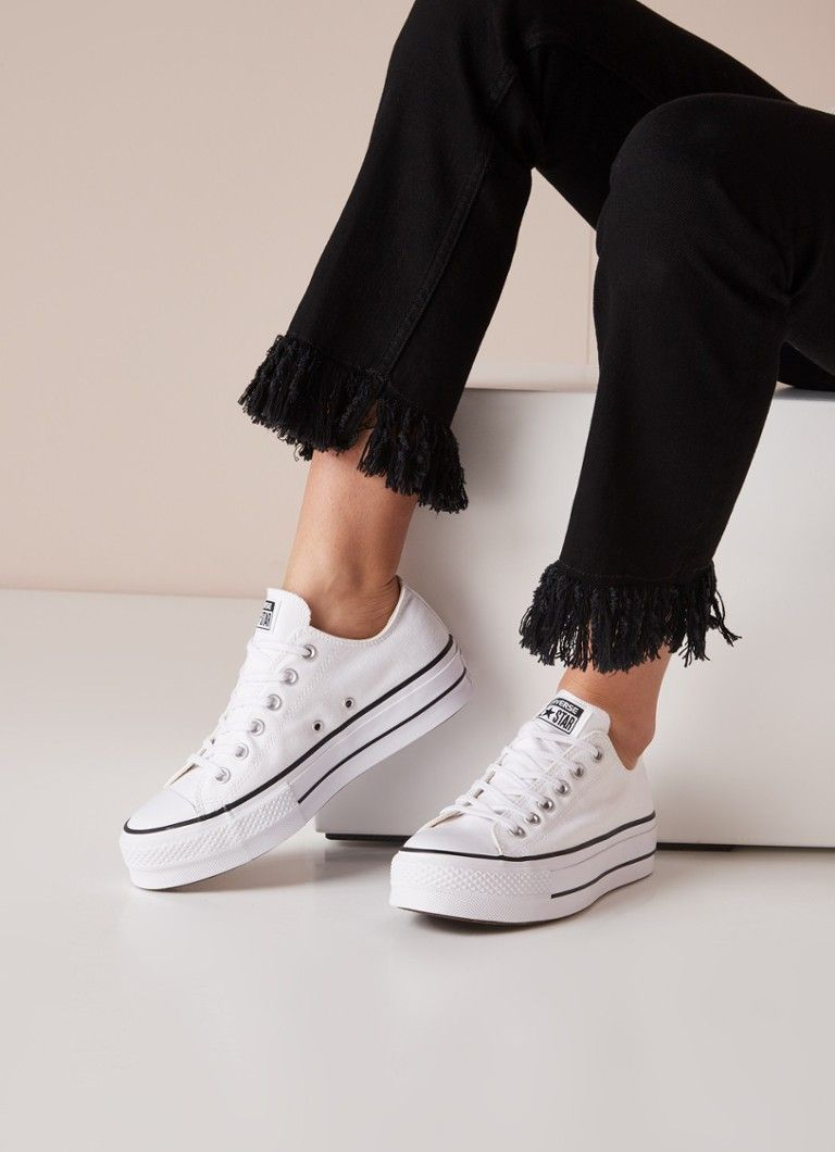 converse all star donna nere basse zeppa
