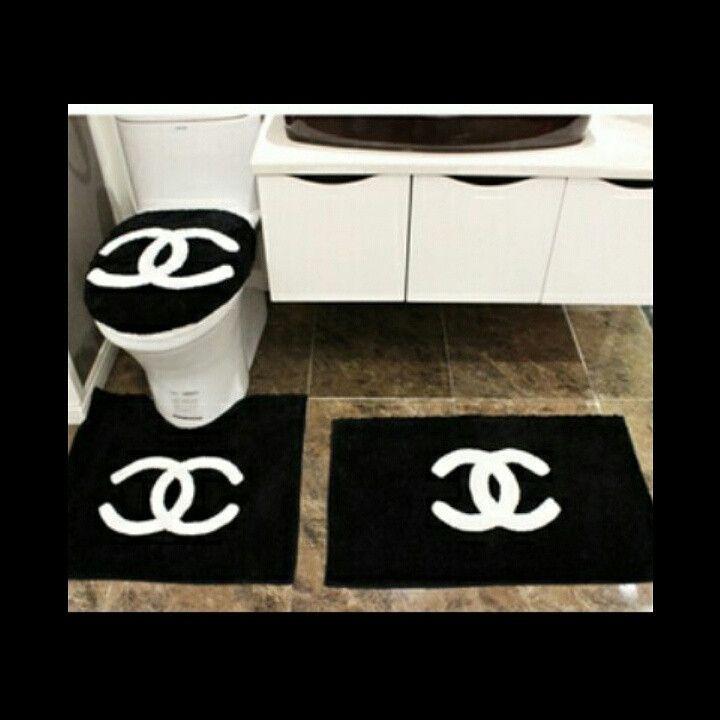 Coco Bathroom Set Chanel Decor Chanel Room Bathroom Rug Sets