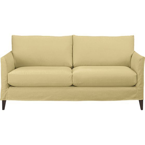 Klyne Slipcovered Apartment Sofa In Sofas Crate And Barrel