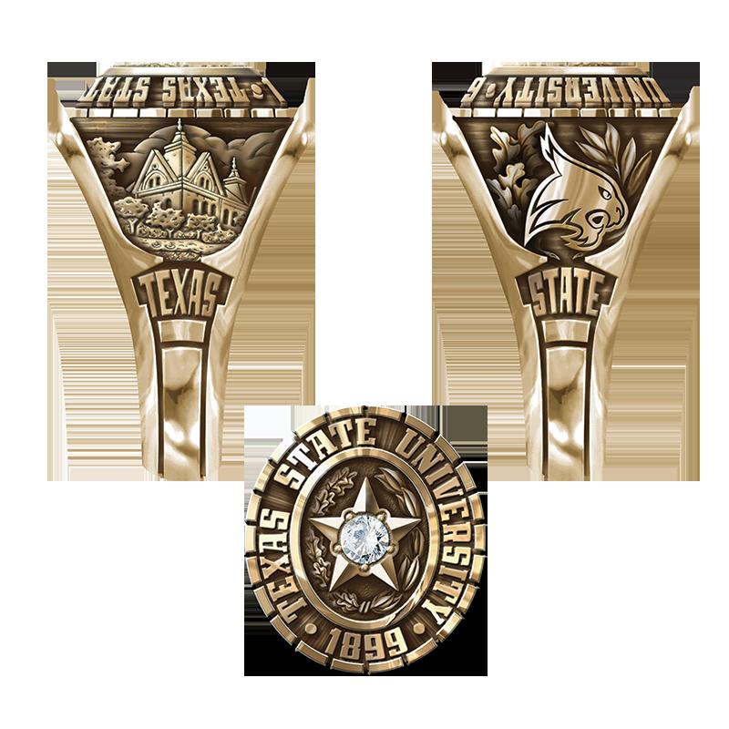 Texas State University San Marcos Women S Traditional Ring Texas State University Texas State State Ring