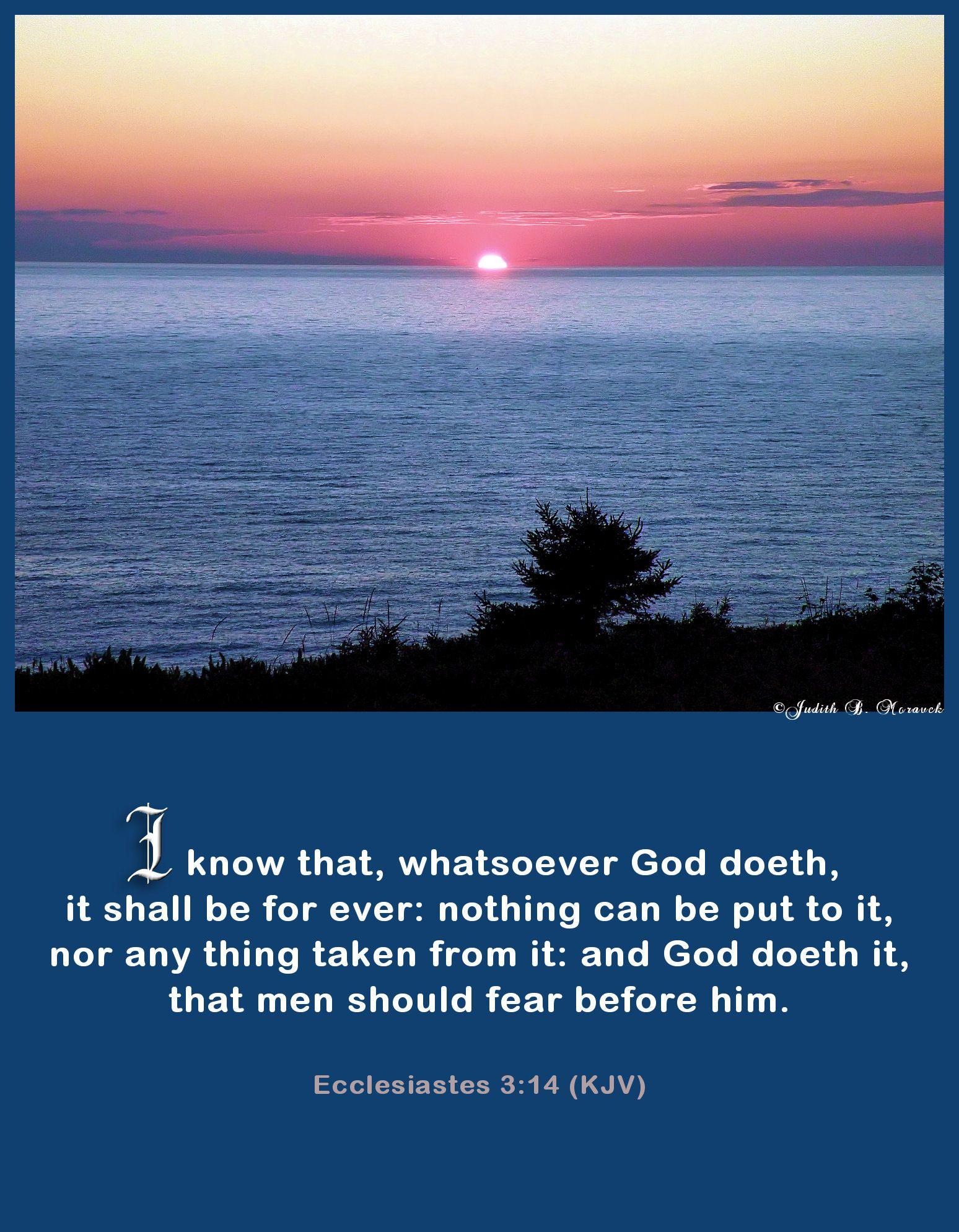 Ecclesiastes 3:14 KJV   Bible Scriptures   Bible verses