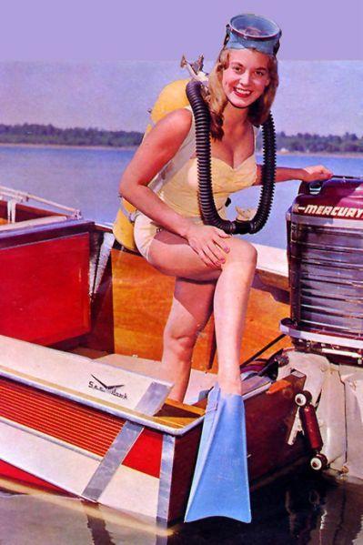 Scuba ladies vintage Vintage Style