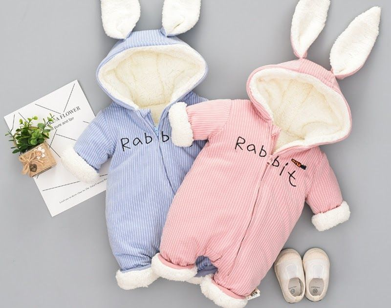 6911f3162 Discount !! Russian cute bunny Fleece Velvet Infant Clothing Winter ...