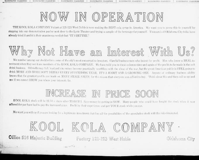 The Oklahoma City times. (Oklahoma City, Okla.) 1908-1984, February 19, 1918 Kool Kola