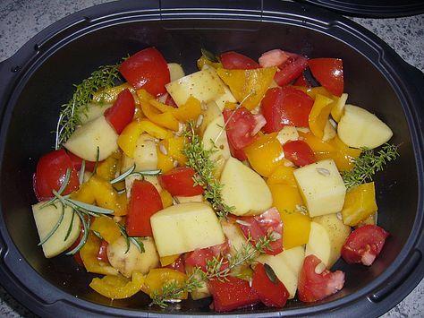 Kartoffeln mit Paprika und Tomaten von YvBe | Chefkoch
