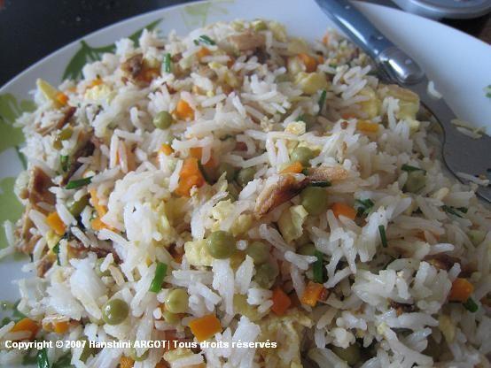 Riz frit poisson sal mauritian recipes pinterest - Cuisine mauricienne chinoise ...