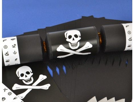 New pirate themed cracker kits available in three colours part of 8 black kids pirate make fill your own party crackers kit pirate crafts themed crafts for kids kids crafts solutioingenieria Image collections