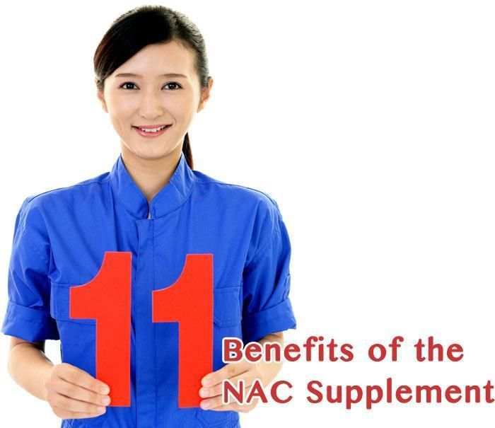 NAC supplement benefits include: Flu-Fighter, Neuropathy pain, Cataracts, Multiple Sclerosis, Environmental Toxins, and prevntion in Parkinson's disease.