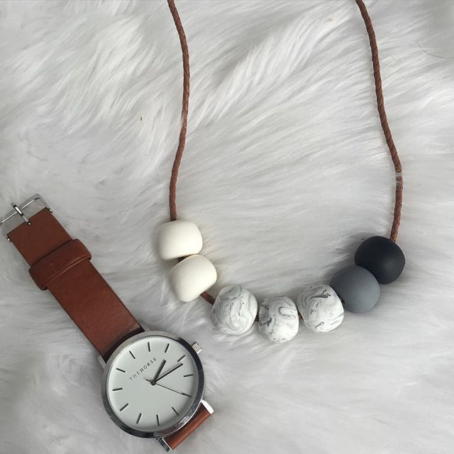 """F L A S H  S A L E White, marble, grey and black on 80cm tan braided leather. Matches perfectly with the house tan leather band!! $30 posted usually $35 posted  Comment sold with PayPal email for invoicing or DM me"" Photo taken by @rafandhop on Instagram, pinned via the InstaPin iOS App! http://www.instapinapp.com (08/01/2015)"
