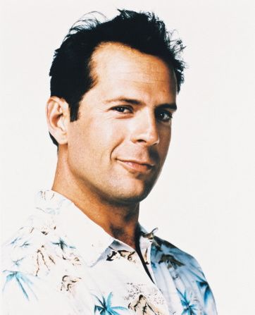 Bruce Willis with hair! Actor who has been noted for his ...