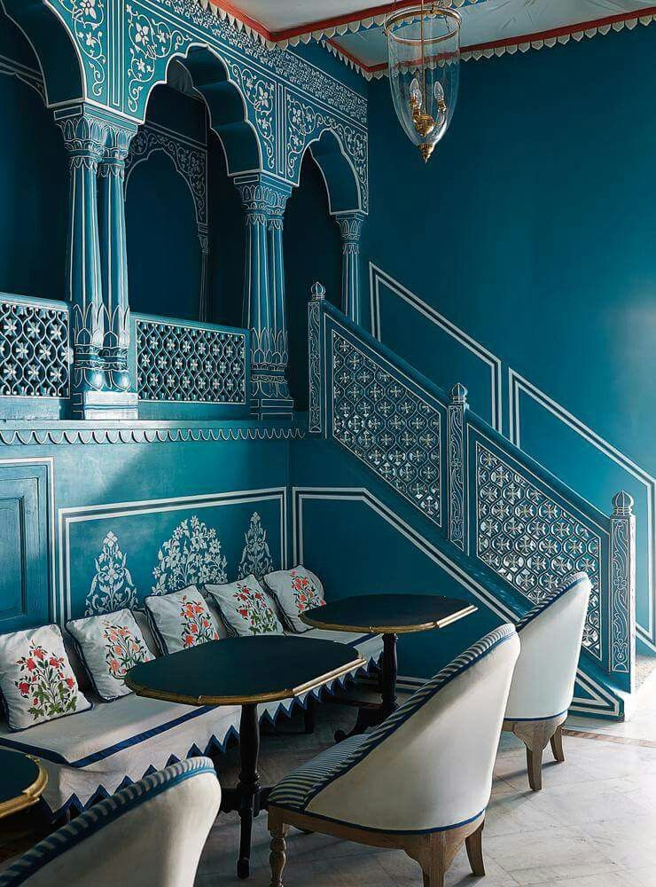 Jaipurs Stunning Bar Palladio Isnt Helping To Soothe My Wanderlust Located In The Gardens Of Narain Niwas Palace Hotel Every Detail Dreamy